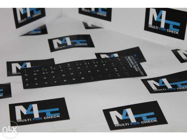 Kit autocolantes teclados portáteis