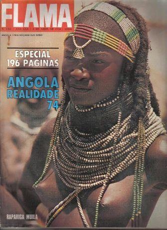 """Revista Flama""""Angola 1974"""""""