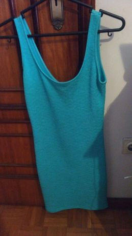 Vestido Azul Água Bershka - S