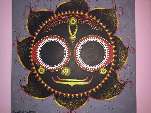 Картина маслом «Джаганатха»на полотне 60/60см