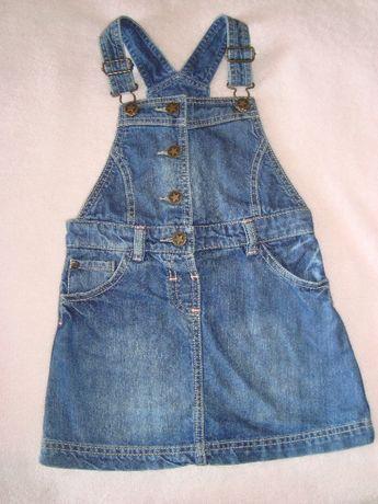 Модный джинсовый сарафан f&f 4-5 лет