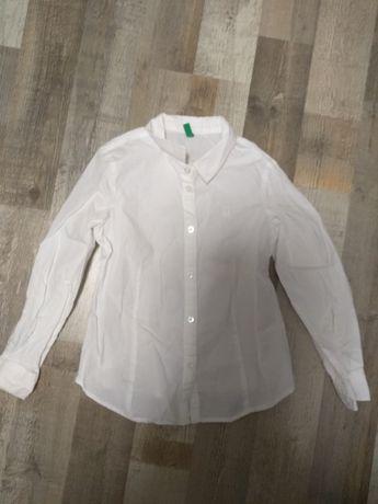 Рубашка, блузка школьная  Benetton