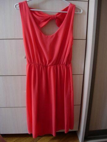 """Sukienka w kolorze """"malinowym"""" rozmiar uniwersalny (S/M)"""