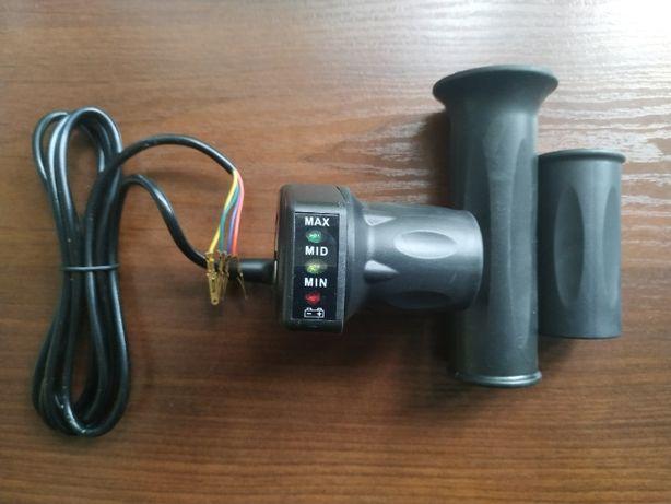 Ручка газа для квадроцикла с индикатором заряда