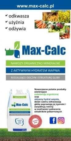 Max Calc, Nawóz organiczny z aktywnym hydratem wapnia. ANTY DZIK