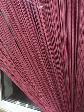 zasłonka / firanka makaron, sznurek 150 x 250 różowa fuksja