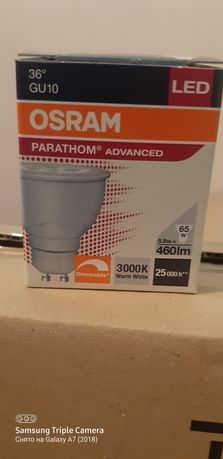 Led лампа OSRAM Светодиодная лампа PARATHOM PAR16 65 36° dimmable