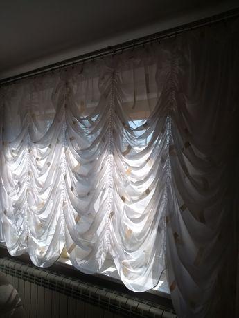 Firana na duże okno kolor ecru