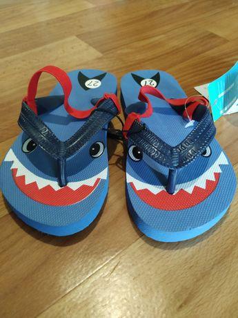 Шлёпанцы детские въетнамки акула Pepco