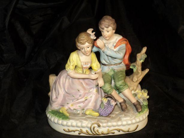 Статуэтка фарфоровая 20см из Франции старина бисквит антиквар керамика
