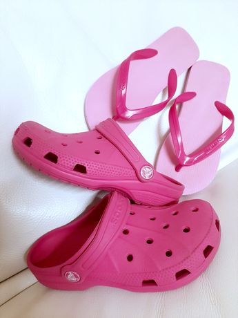 Crocs i klapki dla dziewczynki roz 30-31