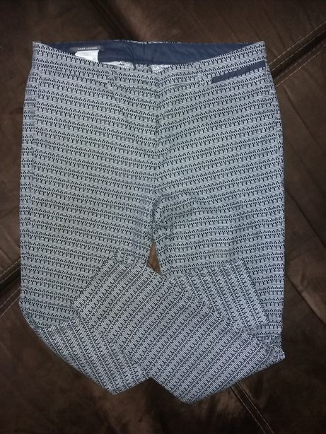 Rene Lezard spodnie damskie materiał materiałowe M 38 wzorek wzorki za