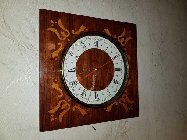 Zegar ścienny drewniany PRL