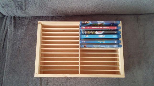 pudełko, skrzynka drewniana na filmy DVD Blu ray
