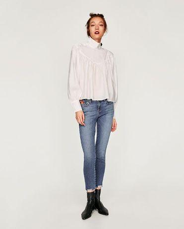 Haftowane spodnie Zara 40
