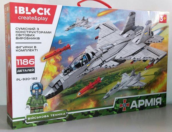 Конструктор Армия Истребитель J-15 F-15 Flying Shark 1186 дет. Лего