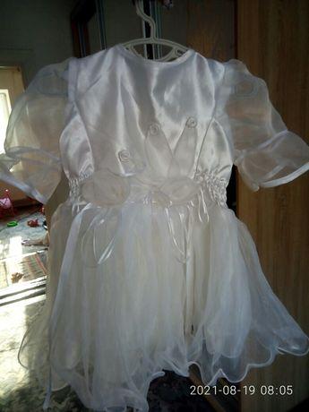 Платье на годик белое