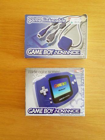 Gameboy advance indigo em caixa