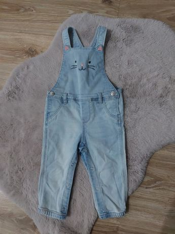 Ogrodniczki h&m jeansowe dżinsowe kotek