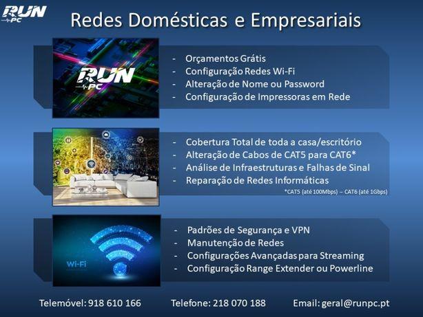 Serviços Redes Domésticas e/ou Empresariais