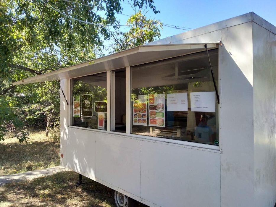 Торговий вагончик на колесах, готовий бізнес Чорнобай - зображення 1