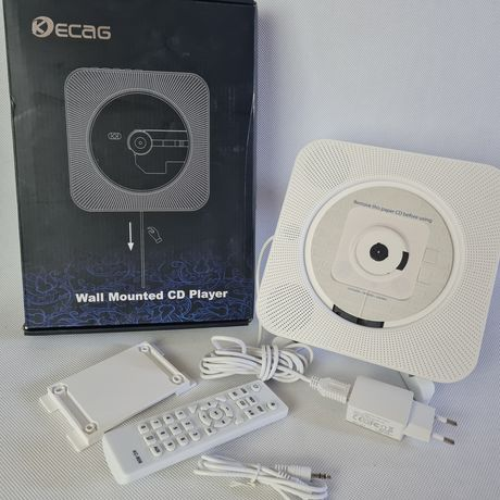 Odtwarzacz naścienny, przenośny głośnik, cd, Bluetooth, radio