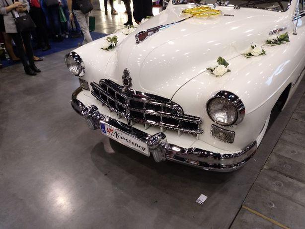 auto do Ślubu samochod zabytkowy Pobieda M-20, ZIM 12