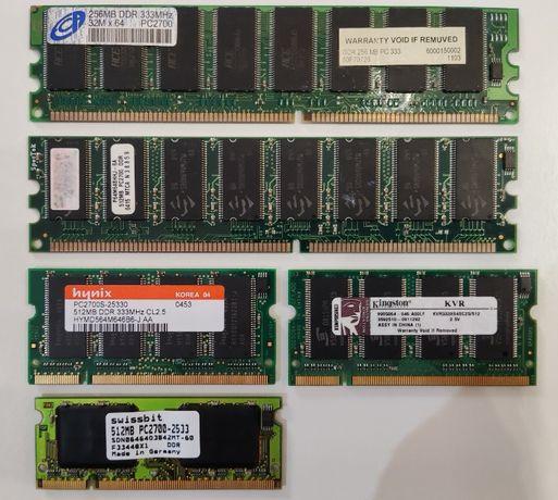 Memórias RAM (1X256 MB + 4X512 MB)