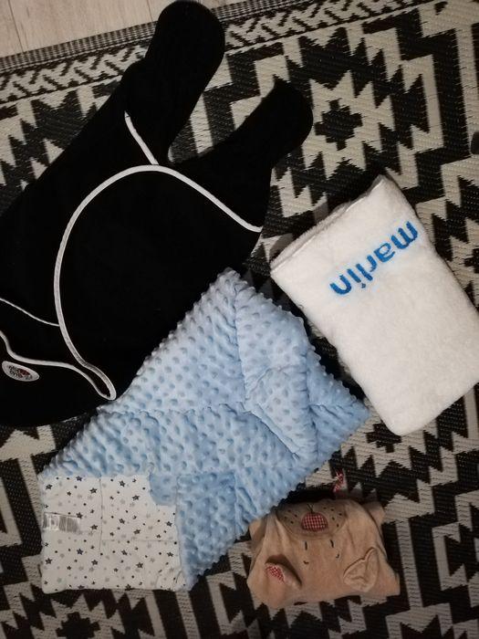 Wyprawka dla malucha niemowlaka becik rozek przewijak ręcznik otulacz Szczecin - image 1