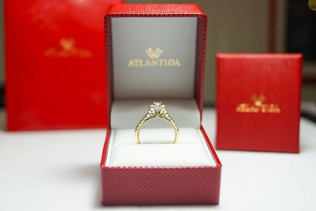 Pierścionek Zaręczynowy Złoty z brylantami 0,742ct
