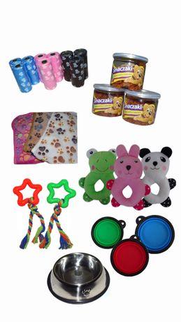 Akcesoria dla psa szczeniaka miska zabawki GRATISY
