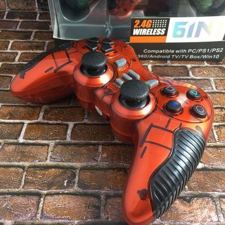 Беспроводной Джойстик 6 в 1 для ПК/PS2/PS3/PC360/ANDROID TV/WIN10 вибр