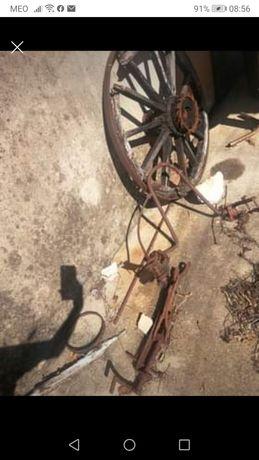 Roda carroça para restauro