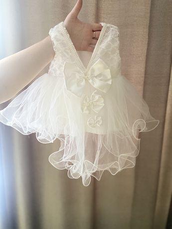 Платья на выписку,крещение для новорожденной
