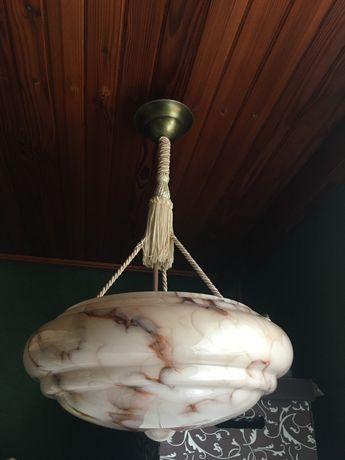 Ampla międzywojenna lampa Art Deco antyk - odrestaurowana
