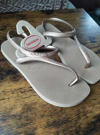 Sandały, japonki, klapki damskie, rozmiar 35-36