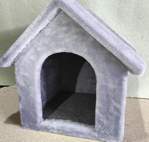 Лежанка-будка из меха для собаки . Ручная работа. Vilka-634