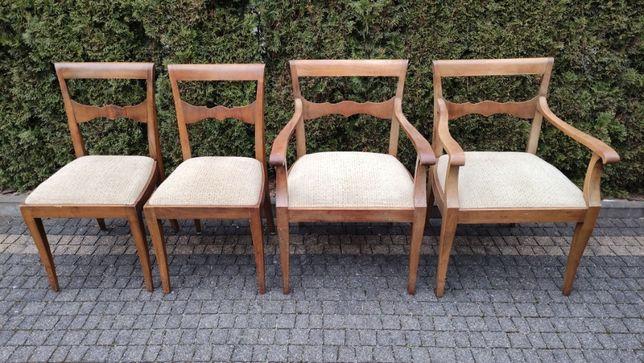 KRZESŁA drewniane przedwojenne fotele dębowe komplet