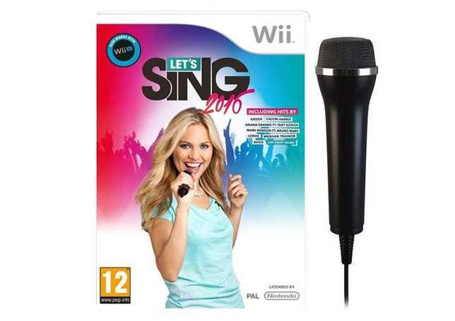 Wii - Jogo Karaoke Let's Sing 2016 + Microfone - NOVO