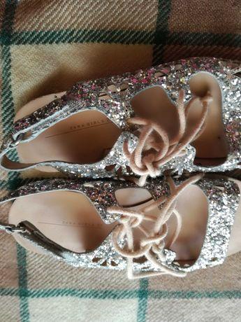 Piekne srebrne sandalki dka dziewczynki r 27