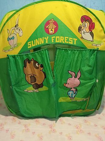 Детская палатка домик игровая с героями медвежонок Винни и его друзья