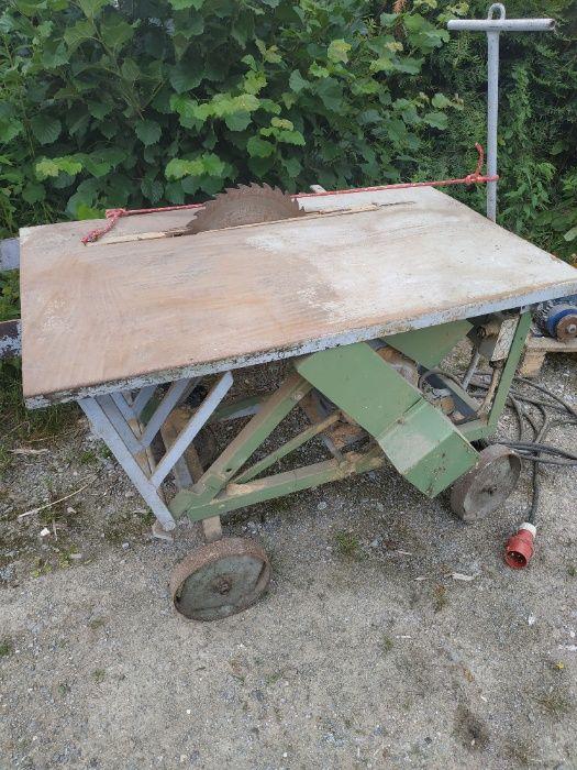 sprzedam piłę krajzega używana do drewna piła jest na siłę na wózku Wrocław - image 1