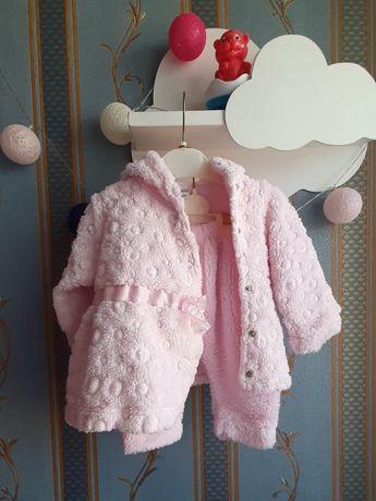 Теплый костюм (пальто и штаны) на весну/осень для девочки