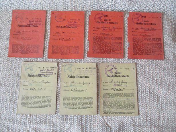 Reichskleiderkarte żołnierska kartka na odzież