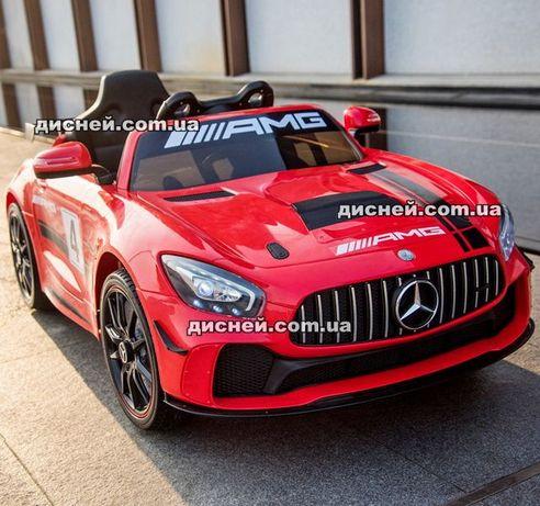 Детский электромобиль Mercedes 4105 красный Дитячий електромобiль