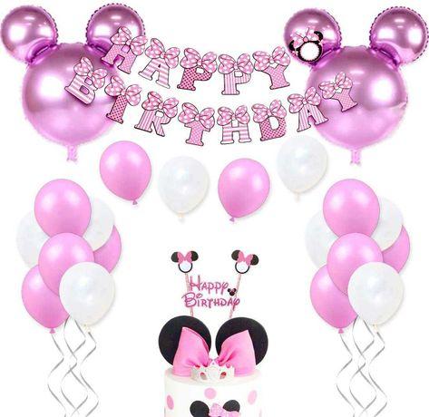 Kit decoração festa aniversário Minnie disney - portes grátis