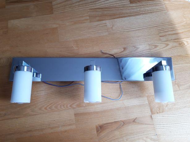 Kinkiet, lampa chromowana nad lustro do łazienki z żarówkami led