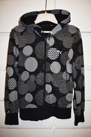 Czarna bluza damska PUMA logo kropki groszki roz. M 38