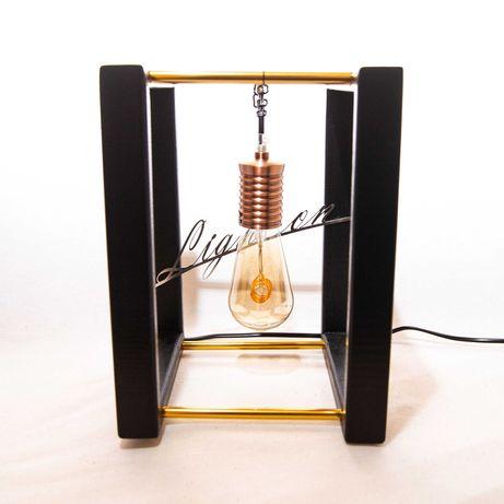 Lampka nocna stołowa lampa loftowa handmade E27