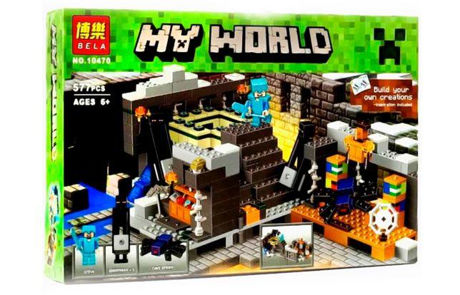 """Конструктор Bela Minecraft 10470 """"Портал в Край"""", 571 элемент, лего"""